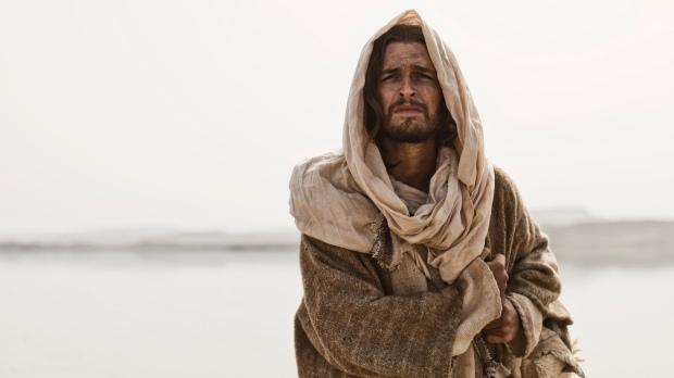Scene 06/57 - Exterior River Jordan;  Jesus (DIOGO MORGADO) as a young man walks along the banks.